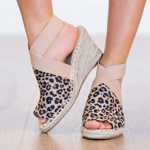Shoes - Chic Leopard Wedges- NWT